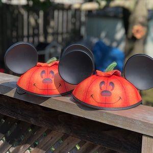 2 Mickey Mouse Disney Park Halloween Pumpkin Ears